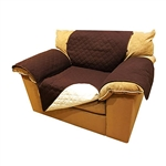 ALEKO® PSC01BR 65 x 70 Inches Pet Sofa Slipcover Spill Scratch Pet Fur Protection Cover for Furniture, Brown