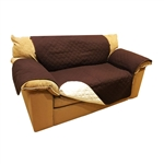ALEKO® PSC02BR 88 x 70 Inches Pet Sofa Slipcover Spill Scratch Pet Fur Protection Cover for Furniture, Brown