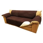 ALEKO® PSC03BR 110 x 71 Inches Pet Sofa Slipcover Spill Scratch Pet Fur Protection Cover for Furniture, Brown
