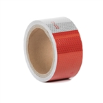 Reflective Red and White Safety Tape - 2 Inch x 15 Ft