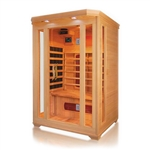 ALEKO® SC2VAGA 2 Person Canadian Hemlock Wood Indoor Dry Infrared Sauna with 2 Carbon Fiber and 4 Ceramic Heaters