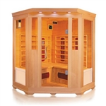 ALEKO® SC3CKEM 3-4 Person Canadian Hemlock Wood Indoor Dry Infrared Sauna with 2 Carbon Fiber and 6 Ceramic Heaters