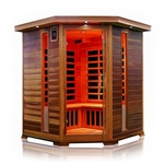 ALEKO® SD3CYUG 3-4 Person Canadian Red Cedar Indoor Dry Infrared Sauna with 8 Carbon Fiber Heaters
