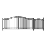Set of ALEKO® DUBLIN Style Steel Swing Dual Driveway 4.3 m with Pedestrian Gate 1.2 m