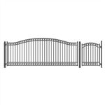 Set of ALEKO® DUBLIN Style Steel Swing Single Driveway 4.9 m with Pedestrian Gate 1.2 m