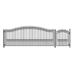Set of ALEKO® LONDON Style Steel Swing Single Driveway 4.9 m with Pedestrian Gate 1.2 m