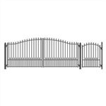Munich Swing Dual Steel Driveway with Pedestrian Gate