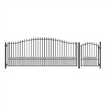 Set of ALEKO® MUNICH Style Steel Swing Single Driveway 4.9 m with Pedestrian Gate 1.2 m