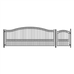 Set of ALEKO® PARIS Style Steel Swing Single Driveway 4.9 m with Pedestrian Gate 1.2 m