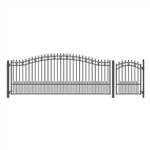 Set of ALEKO® ST.PETERSBURG Style Steel Swing Single Driveway 4.9m with Pedestrian Gate 1.2 m