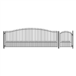 Set of ALEKO® MUNICH Style Steel Swing Single Driveway 5.5 m with Pedestrian Gate 1.2 m