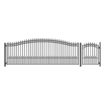 Set of ALEKO® PRAGUE Style Steel Swing Single Driveway 5.5 m with Pedestrian Gate 1.2 m