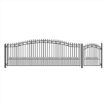 Set of ALEKO® ST.PETERSBURG Style Steel Swing Single Driveway 5.5m with Pedestrian Gate 1.2 m