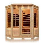 ALEKO® SH3CSULA 3-4 Person Canadian Hemlock Wood Indoor Dry Infrared Sauna with 9 Carbon Fiber Heaters