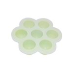 ALEKO SHT07GR Heat Resistant Non Stick Silicone 7 Holes Baby Food or Ice Cube Tray Multipurpose Storage Container, Green