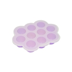 ALEKO SHT10PR Heat Resistant Non Stick Silicone 10 Holes Baby Food or Ice Cube Tray Multipurpose Storage Container, Purple