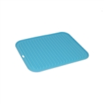 ALEKO SPH12X9BL Silicone Non Stick Heat Resistant Baking Mat 12 X 9 Inch (30.5 X 22.9 cm) Multipurpose Baking Sheet, Blue