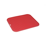 ALEKO SPH12X9RD Silicone Non Stick Heat Resistant Baking Mat 12 X 9 Inch (30.5 X 22.9 cm) Multipurpose Baking Sheet, Red
