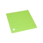 ALEKO SPHS6GR Silicone Heat Resistant Non Slip Hot Pad Potholder Trivet Mat 6 X 6 Inches, Green