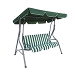 ALEKO Canopy Patio Swing Bench, Green