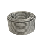 ALEKO® WR1/4G7X19F250 1/4 Inch 7X19 Galvanized Aircraft Steel Wire Cable 250 Feet