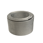 ALEKO® WR38G7X19F250 3/8 Inch 7X19 Galvanized Aircraft Steel Wire Cable 250 Feet