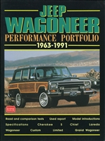 Jeep Wagoneer Performance Portfolio 1963-1991 compiled by R.M. Clarke.