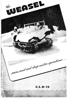 Studebaker: Driving Controls & Operation of M29 Weasel