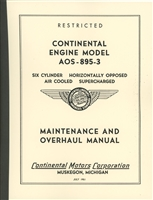Continental AOS-895-3 Maintenance & Overhaul Manual