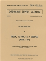 ORD 9 G502 Illustrated Parts Manual Dodge 3/4 Ton 4x4 WC Series +