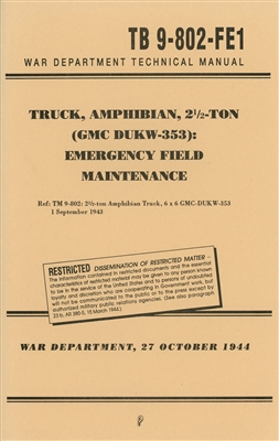 TB 9-802-FE-1  Emergency Field Maintenance for DUKW (G501)