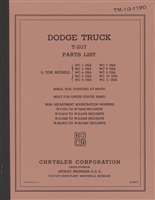 Dodge Parts Manual TM 10-1120