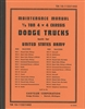TM 10-1123/1443 Maintenance Manual for Dodge WC1 - WC43
