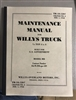 TM 10-1207 Maintenance Manual for Willys MB
