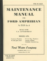 TM 10-1263 Ford GPA Maintenance Manual