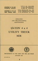 TM 9-8012 Operator & Maintenance for M38
