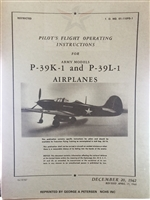 P-39K-1 & P-39L-1 Flight Operating Instructions (AAF '42)