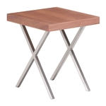 Zuo Modern Renmen Side Table Walnut