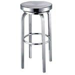 Fine Mod Imports Navy Counter Stool