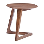 Zuo Modern Park West Side Table Walnut