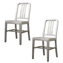 Fine Mod Imports Cafe Dining Chair Set of 2