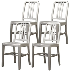 Fine Mod Imports Cafe Dining Chair Set of 4