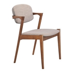 Zuo Modern Brickell Dining Chair Dove Gray