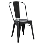 Fine Mod Imports Tolix Marais Dining Chair in Black