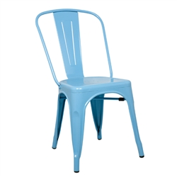 Fine Mod Imports Tolix Marais Dining Chair in Sky Blue