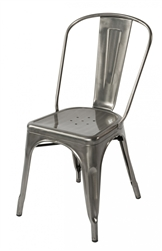 Fine Mod Imports Tolix Marais Dining Chair in Gunmetal