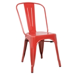 Fine Mod Imports Tolix Marais Dining Chair in Red