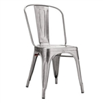 Fine Mod Imports Tolix Marais Dining Chair in Silver