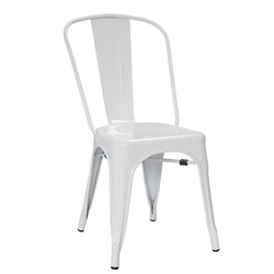 Fine Mod Imports Tolix Marais Dining Chair in White