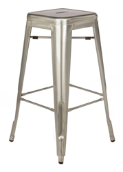 Fine Mod Imports Tolix Counter Stool In Gunmetal, Silver